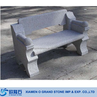Classic Park Stone Garden Sit Up Bench Grey Granite Park Bench