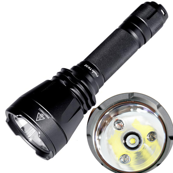 900lumens Fenix TK32 Cree XM-L2 U2 LED 4-Mode LED Flashlight Rechargeable Integrated Red Green and Blue LEDs