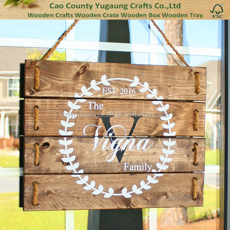 Rustic Home Decorations Personalized Wood Signs- Porch Decor
