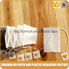 Food grade empty tea bag with custom tag