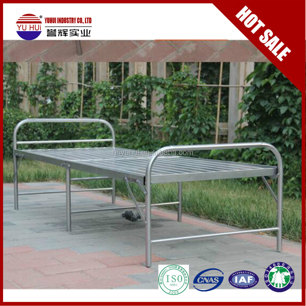 Modern Design Folding Single Bed Steel Single Beds For Adults