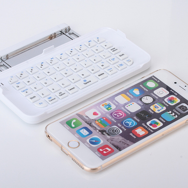 For iPhone 6 6S Plus Slide Bluetooth Keyboard with Protective Case