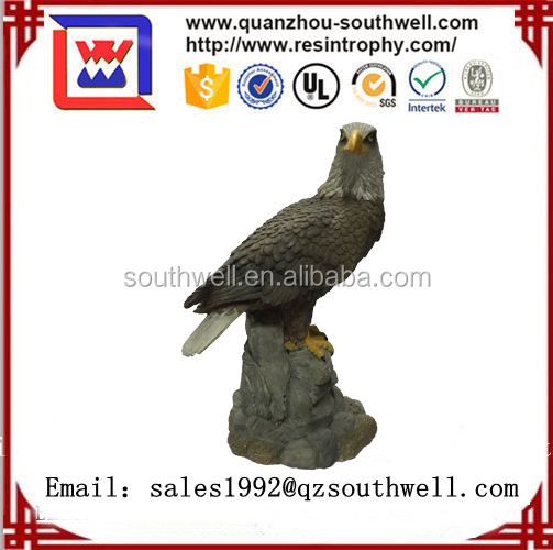 Wholesale Resin Animal Head Sculpture,Outdoor Eagle Figurines Statues