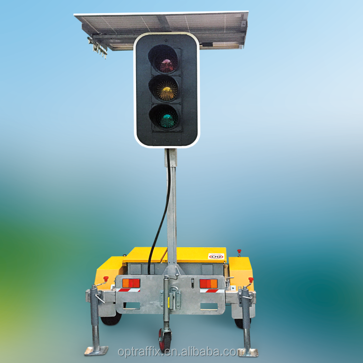 Hot Sale Solar Powered Coupled Portable High Luminous Flashing RYG IP65 Yellow LED High Power Traffic Lights Signal Signs