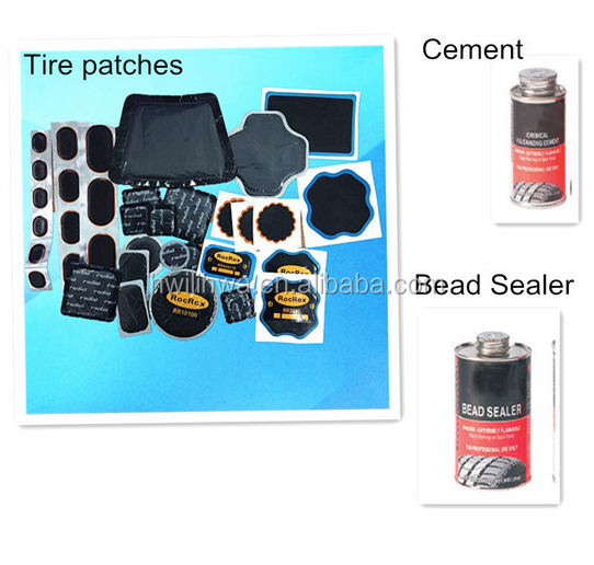Vulcanizing tire repair patches