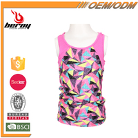 Best Custom Pattern Plain Sleeveless T Shirts for Kids Girls Boys