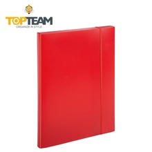 A4 size clear & colorful a4 document folder,file folder with spring clip,a4 clear pp plastic box file with handle