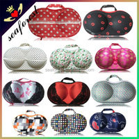 fashion bra protective box, wholesale bra panty storage bags, travel eva bra case