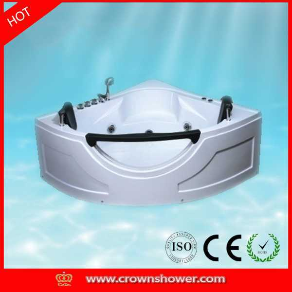 2015 New design indoor portable massage bathtub bathtub waste and overflow