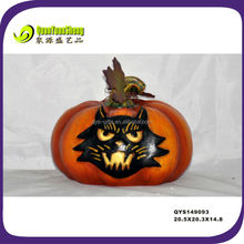 Best price halloween craft artificial pumpkin with cat