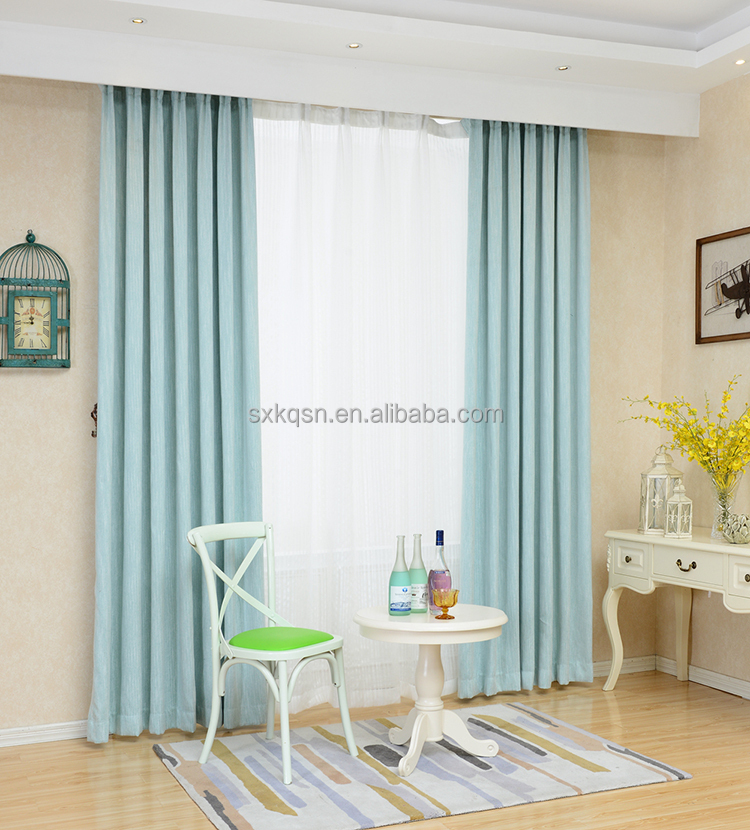 Best price custom slub cotton window curtains fabrics