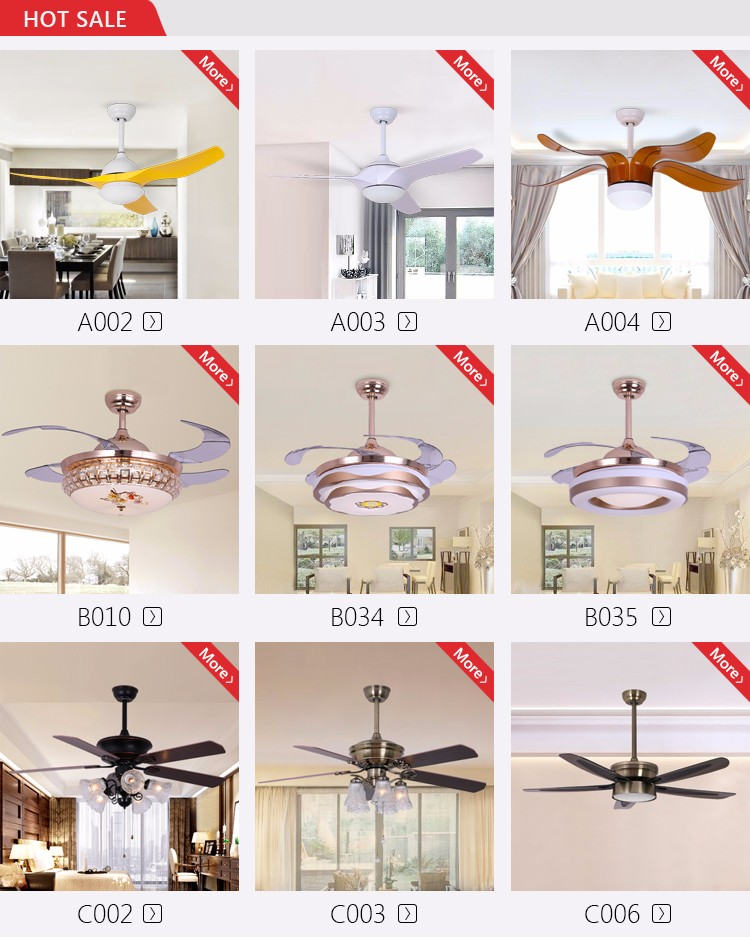 Zhongshan Light Market Modern Design Antique 52'' Wooden Blade Ceiling Fan With Bulb Light