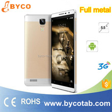 New arrival 5.5inch 3G mtk 6572 dual core unlocked android phone / mtk6580 Phone