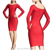 OEM custom made china supplier women clothes wholesale price in turkey knitted long sleeve bodycon bottoming dress Autumn wear