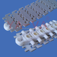Anti-Skid 103mm Width Flexible Plastic Conveyor Chain with Flocking Surface