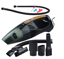 Four in one multi-function inflator and wet&dry dual purpose portable car vaccum cleaner with LED light