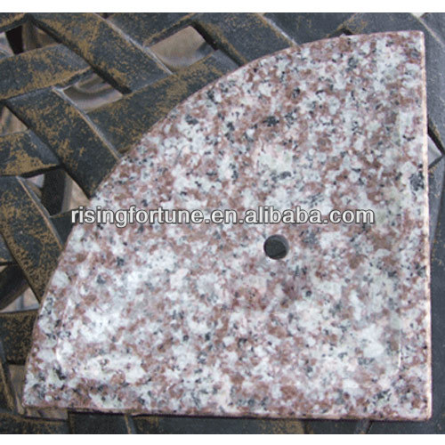 Cheap G687 pink granite soap dish
