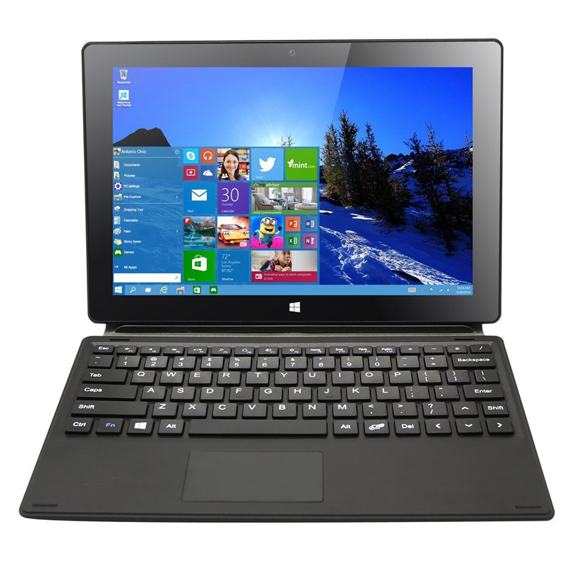 10.1 inch Window 10 Tablet Intel Quad Core 2-in-1 Notebook IPS Screen with Detachable Keyboard 2G 32G