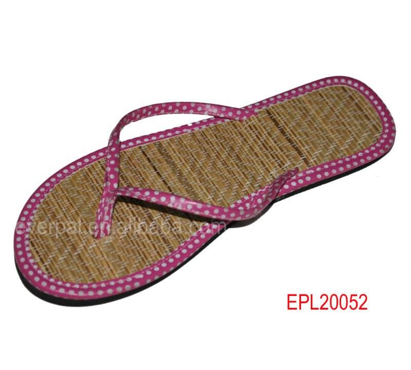 china pcu straw flip flop shoes