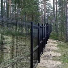 cheap PVC coated welded wire mesh black fence
