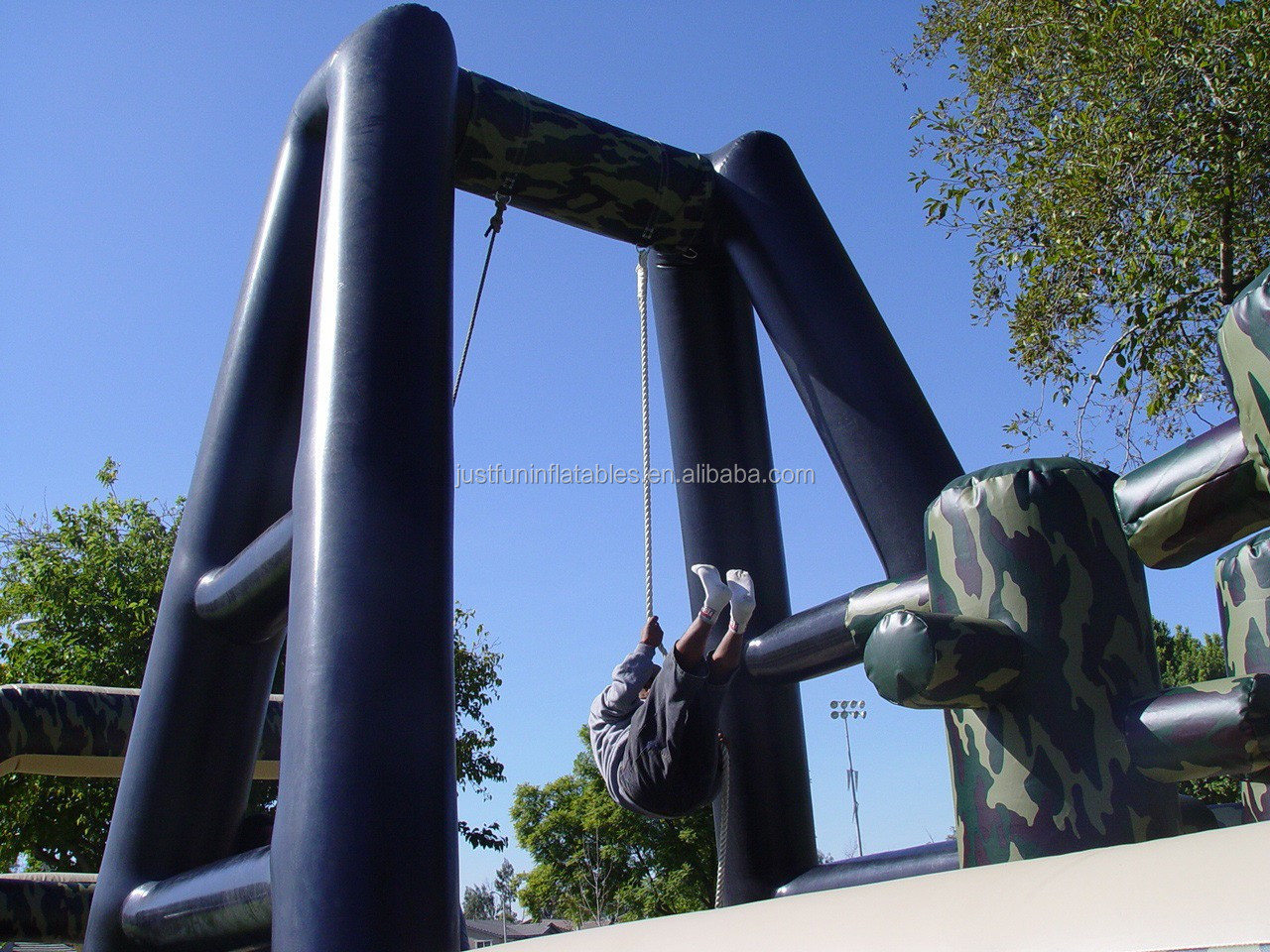 new design giant camouflage assault inflatable obstacle course for adults