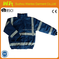 Hi-Viz navy blue cotton fabric with 160gsm quilted safety winter Jacket
