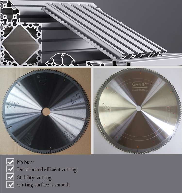 Professional TCT Saw Blade for cutting aluminum copper bronze