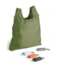 Promo ripstop compact polyester shopping bag with square pouch