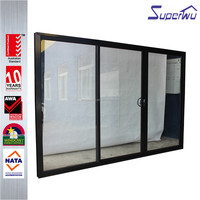 China supplier Superwu double glass with grills 3 panel sliding shower door
