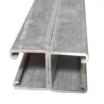 Wholesale Price Hot Dipped Galvanized Slotted Steel C Channel Perforated C Channnel 41*41MM 41*21MM