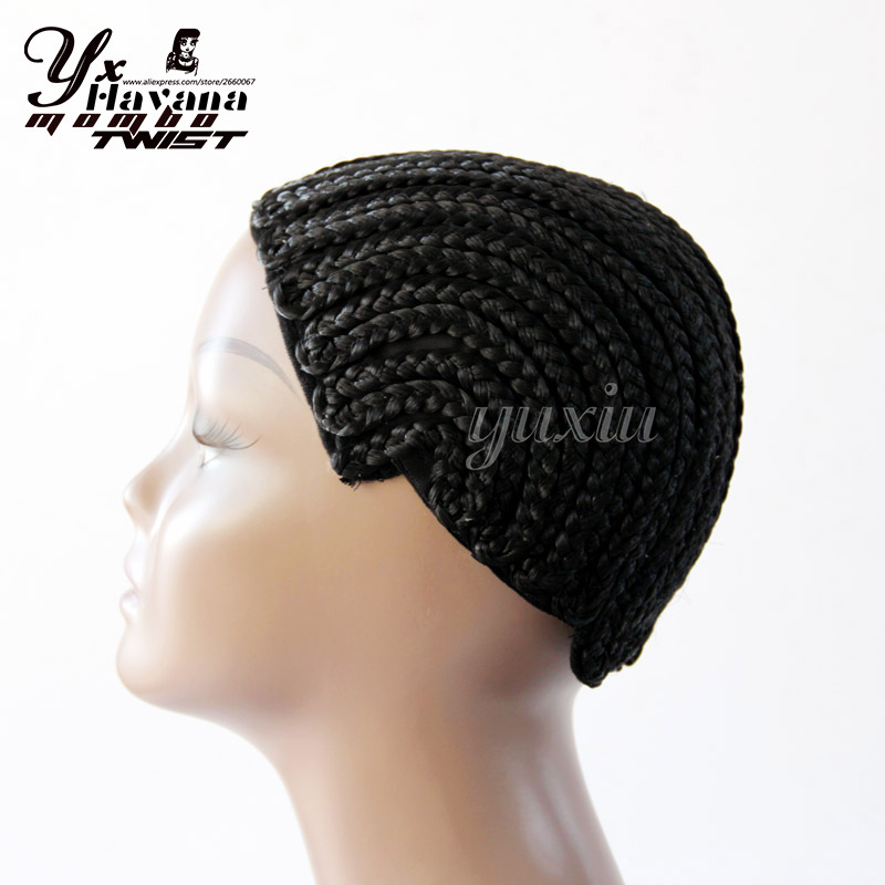 Cornrow Braided Wig Cap For Weave Crotchet Braiding Wigs Large, Medium and Small Size