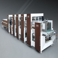 Factory professional automatic high speed paper box gluing and folding machine for sale