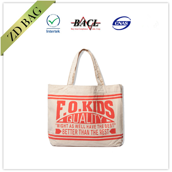 Custom printed recycle bag cotton canvas tote bag