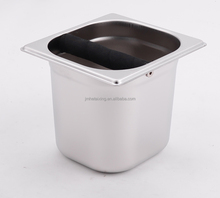 Commercial Espresso Coffee Grounds Knock Box of Electrolysis Finish for Coffee Powder Knock Bin