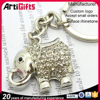 From china manufacture custom 3d elephant shape metal keychain
