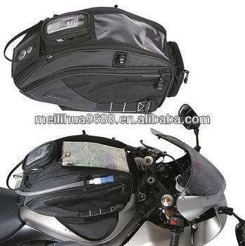 Wind/Water resistant 1000D nylon Balck Tank Bag for motorcycle