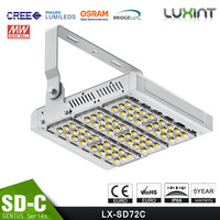 100-140lm/W 120W LED Flood Lights Different Beam Angle Modular Design Adjustable Bracket CE Rohs Meanwell Driver