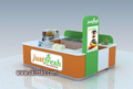 Made in China retail juice shop interior design, juice shop decoration and fruit juice bar kiosk for sale