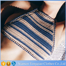 Sexy Halter Knitted Simple Neck Designs For Ladies Tops