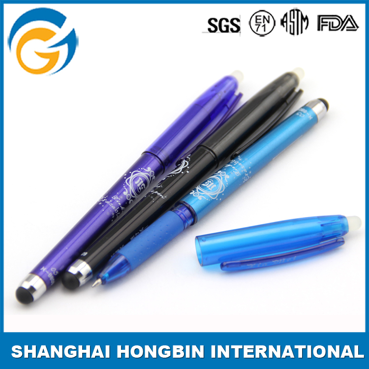 Customized Cute Printing Eraser Advertising Pen with Cap