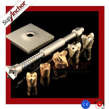 SupAnchor high quality SDA hollow drilling rock anchor bolts & reinforcing steel bars