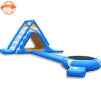 2017 Giant combo inflatable water park slides equipment for sale