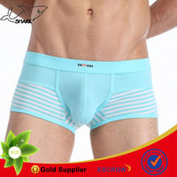 Solid lingerie for man knitting cotton boxer shorts men underwear fashion show