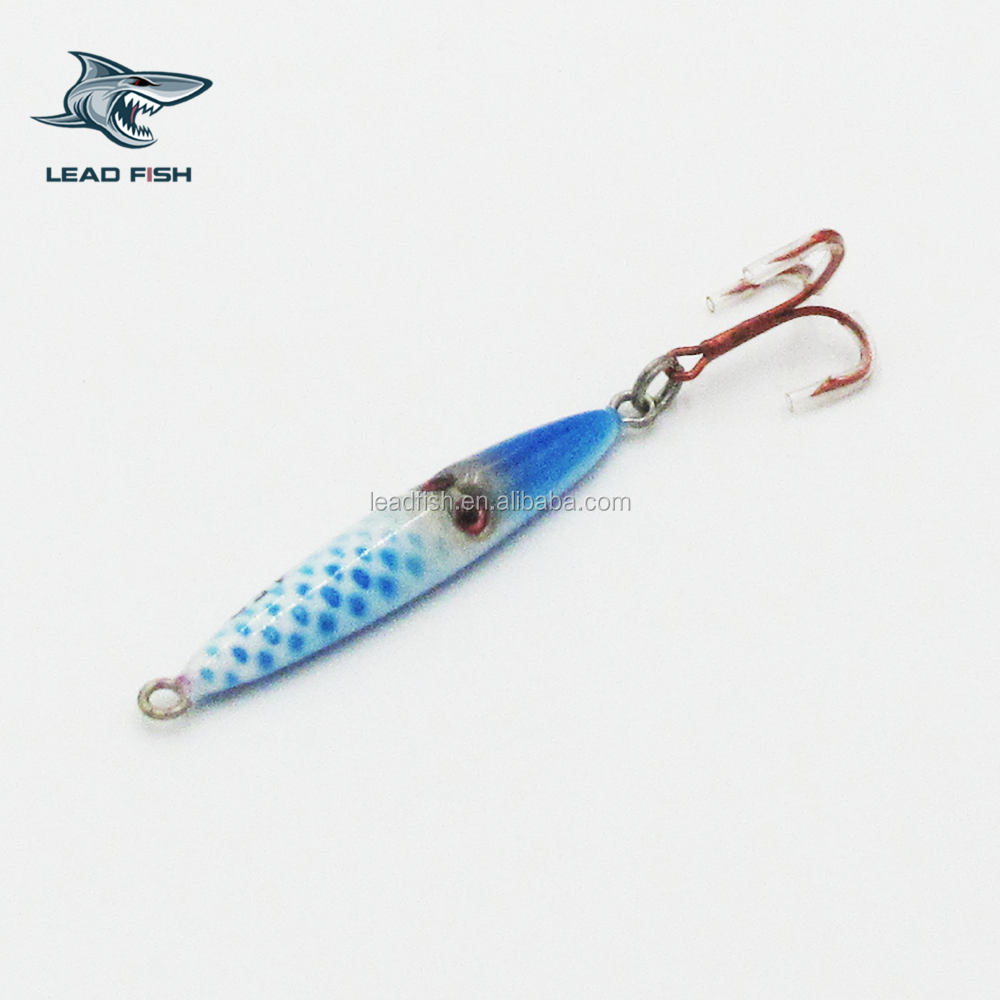 LF76B Leadfish-3 eyes lure 20g/60g/100g/125g/150g/ Bouncing Jigging Lure Artificial Fish
