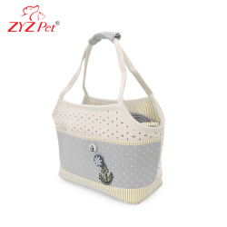 Blue Canvas Cheap Small Dog Carriers for Summer