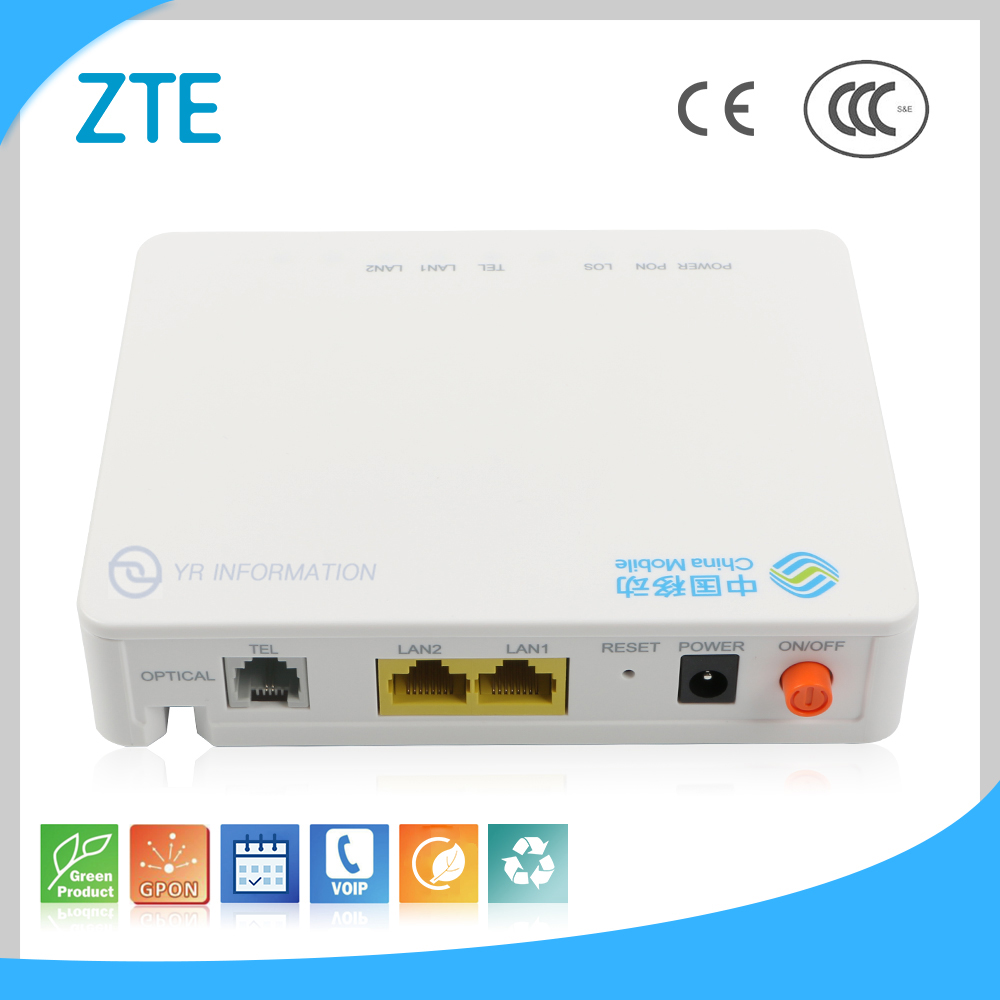 Green Product 2GE + 1FXS CE CCC Single Fiber FTTH Optical Receiver Original ZTE ONU ZXHN F603 Gepon ONT GPON ONU