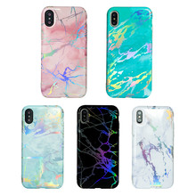 Stamping Silver Chrome Granite Phone Case for iPhone 10 , for iPhone X Case Marble