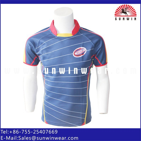 HK rugby club football player jerseys/shirts custom sublimated design high quality