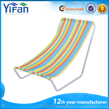 Popular Folding KD Low Seat Sun Lounger Beach Chair