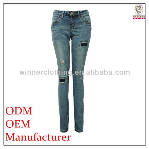 OEM garment manufacturer direct high waisted jeans